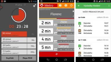 Tři aplikace pro cestování MHD