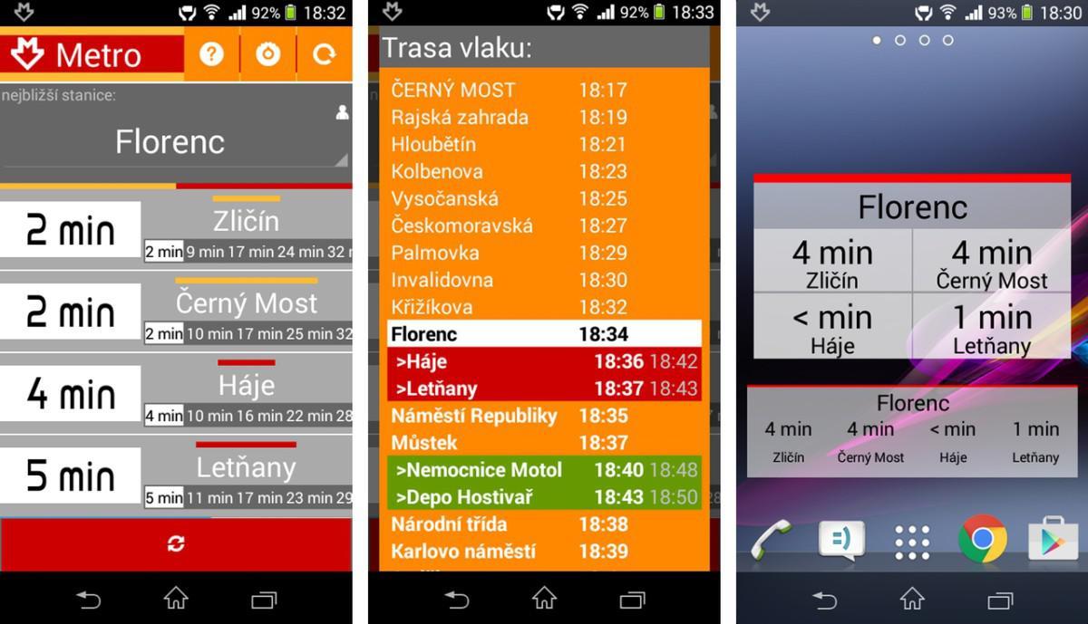 aplikace Metro