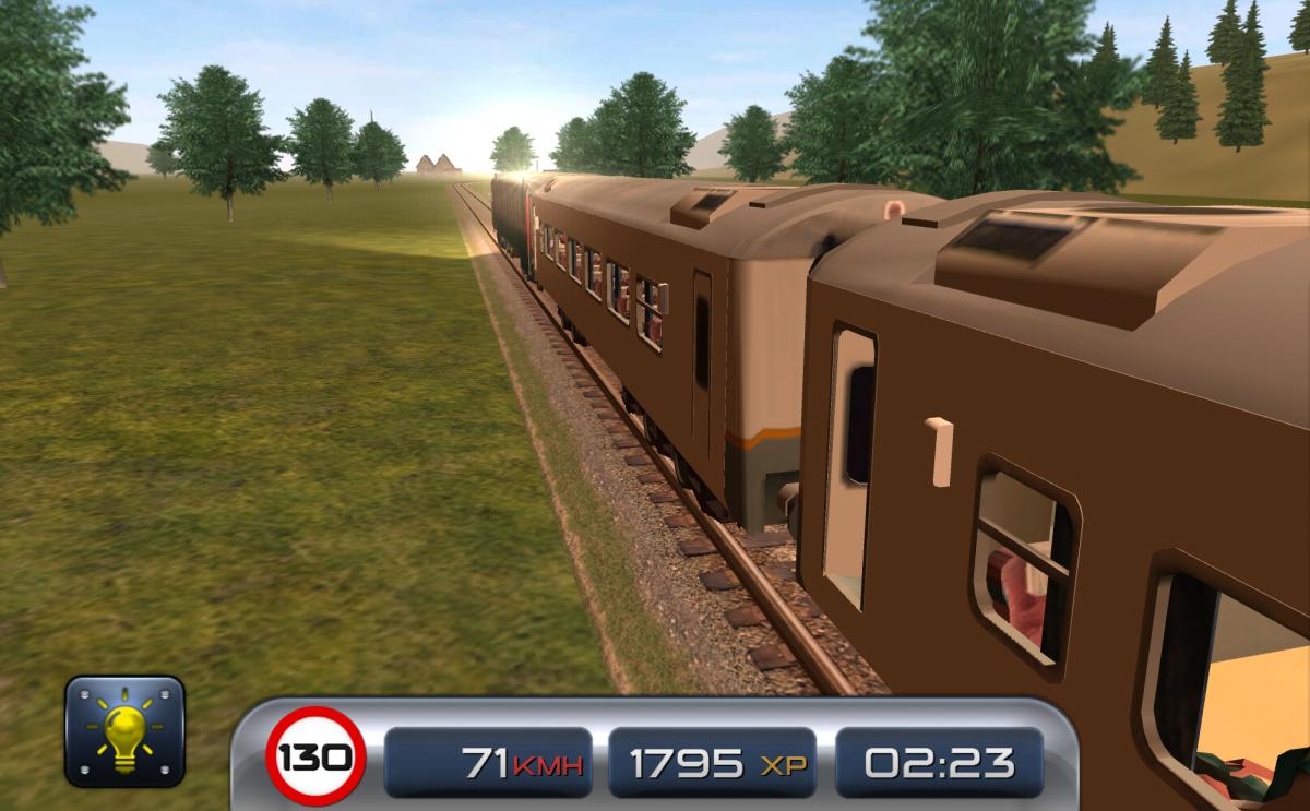 Train Driver 15 - Vlakový simulátor na android - pohled z venku na vlak