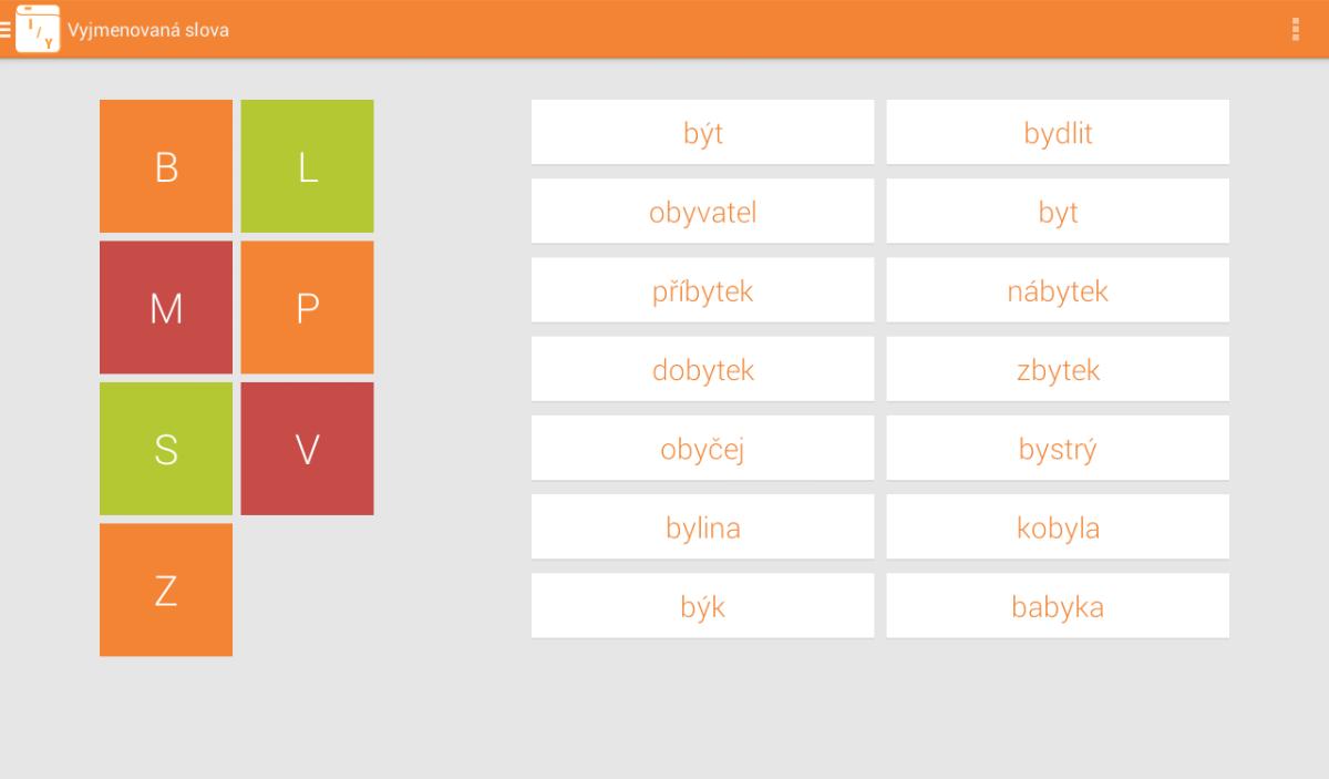 Android Aplikace Český pravopis