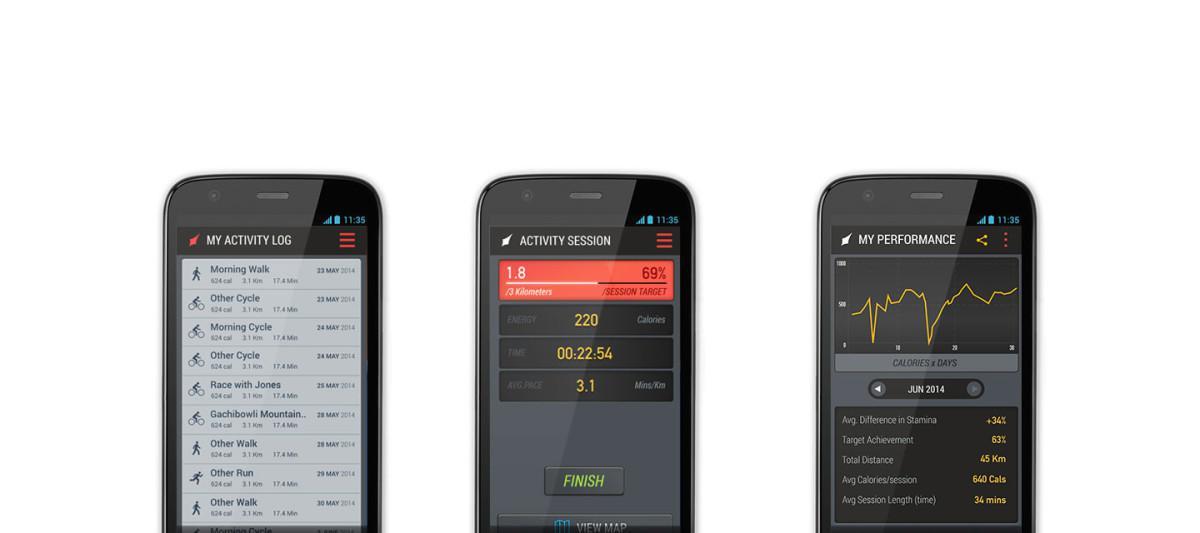 Lechal - Aplikace pro sledování měřených údajů z chytrých bot Lechal
