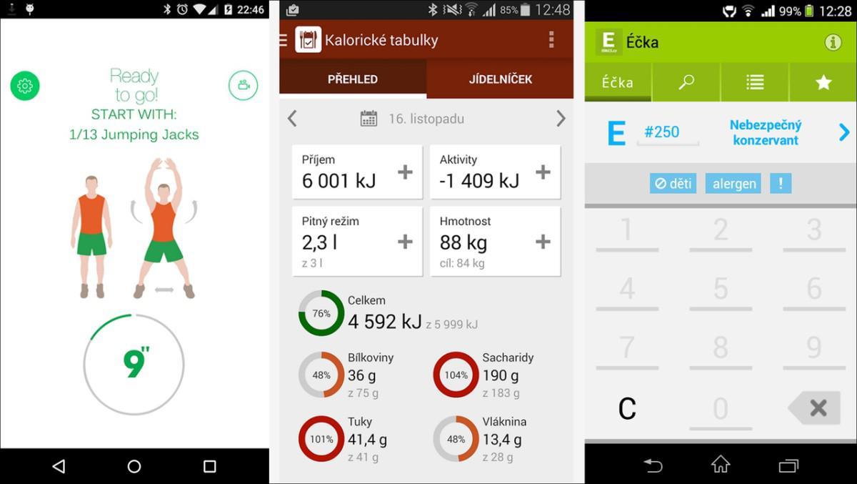 Tři užitečné android aplikace pro vaše zdraví