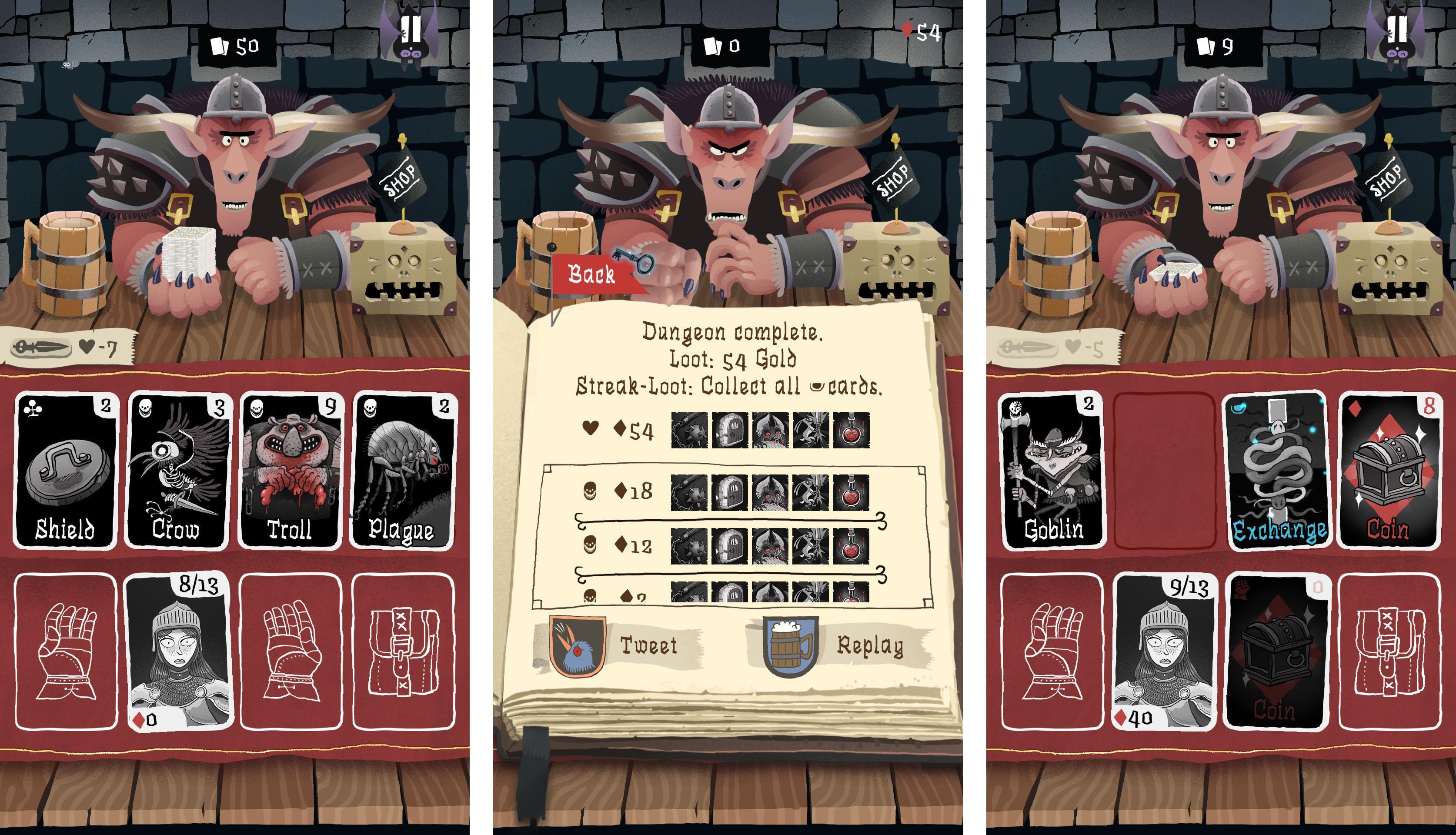 Card Crawl patří právem mezi nejlepší karetní hry na Androidu