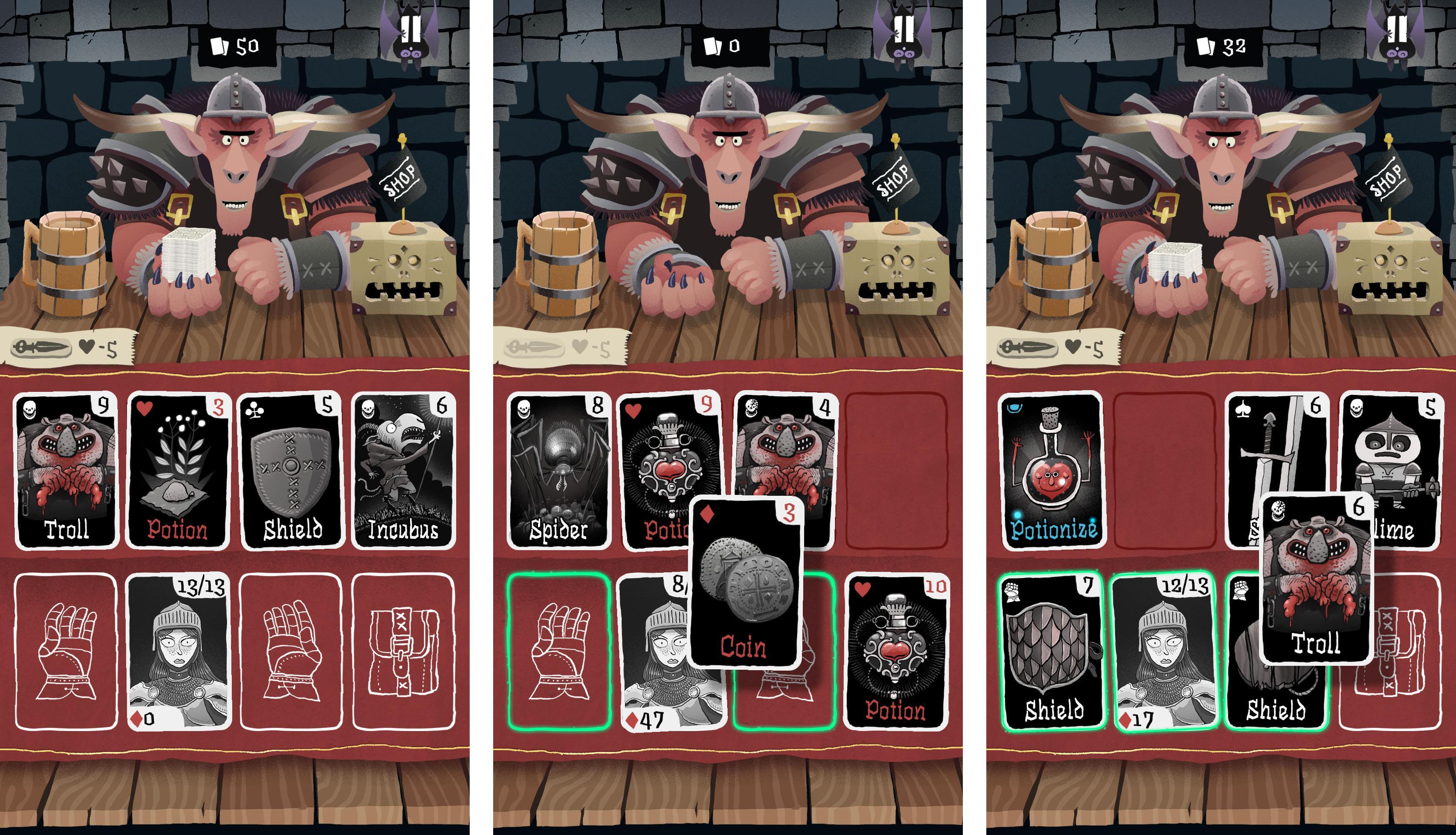 Hra Card Crawl nabízí jednoduchý avšak důmyslný herní systém
