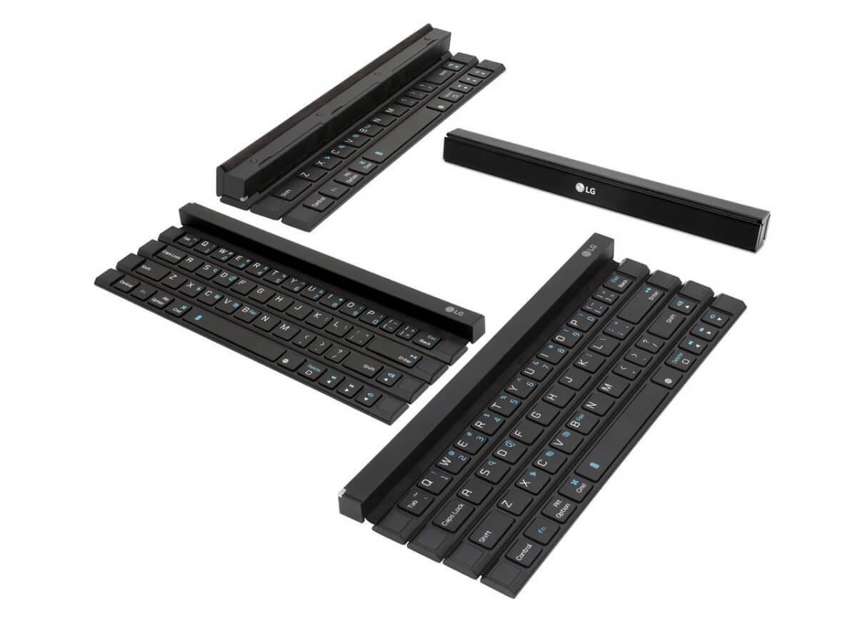 Skládací klávesnice LG Rolly Keyboard je ideální k tabletu nebo telefonu