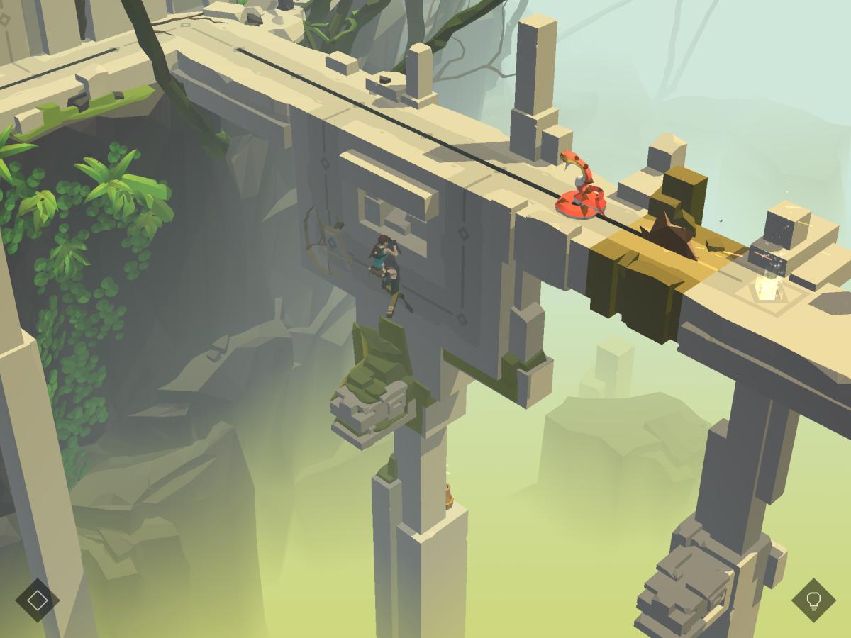 Lara Croft GO - Grafické zpracování  této logické hry je vynikající