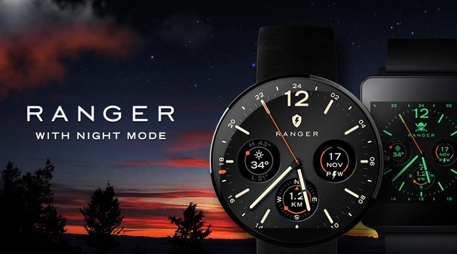 Ranger Military Watch-Face pro chytré hodinky Android wear