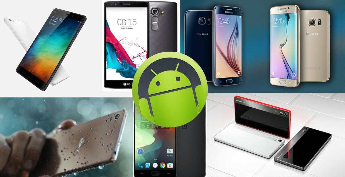 Top 15 Android telefony 2015