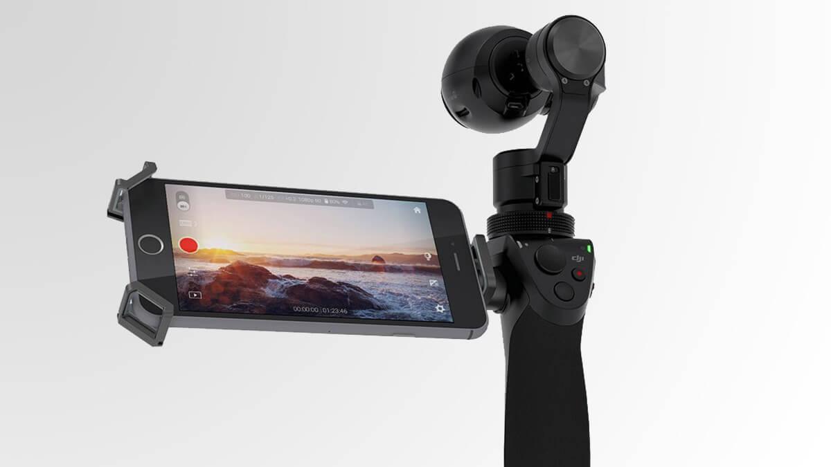 DJI Osmo je profesionální kamera se stabilizátorem kterou připojíte k Android telefonu