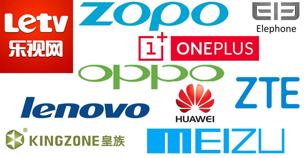 TOP 15 čínských telefonů s Androidem 2015