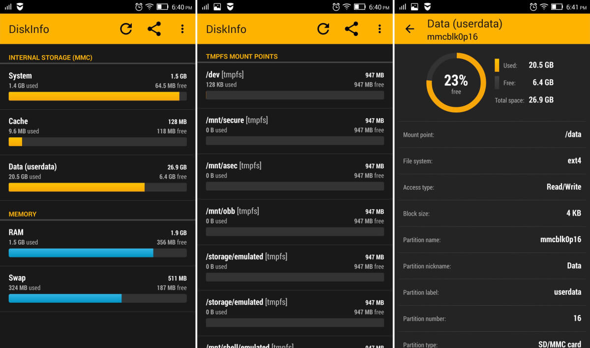 Diskinfo - pokročilá aplikace na správu paměti