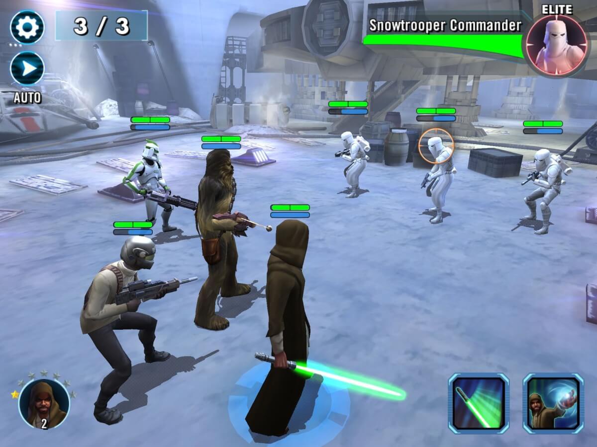 Star Wars: Galaxy of Heroes je sběratelská hra pro Android