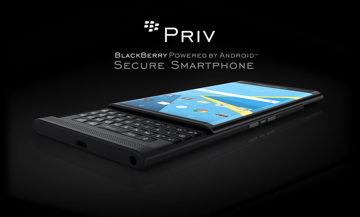BlackBerry Priv z boku
