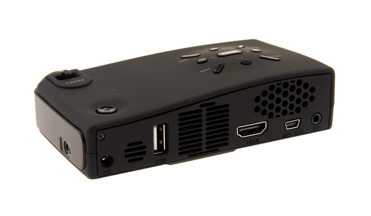 PhoneSuit Lightplay - Zadní strana miniaturního projektoru