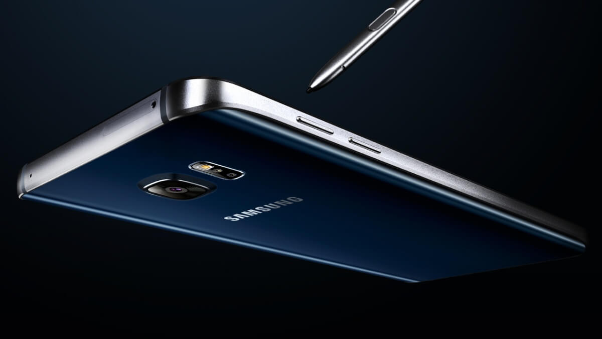 Samsung Galaxy Note 5 z boku