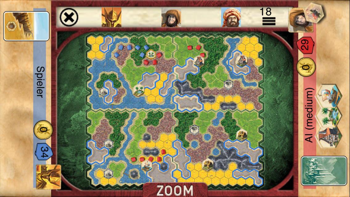 DEsková hra Kingdom Builder na Android