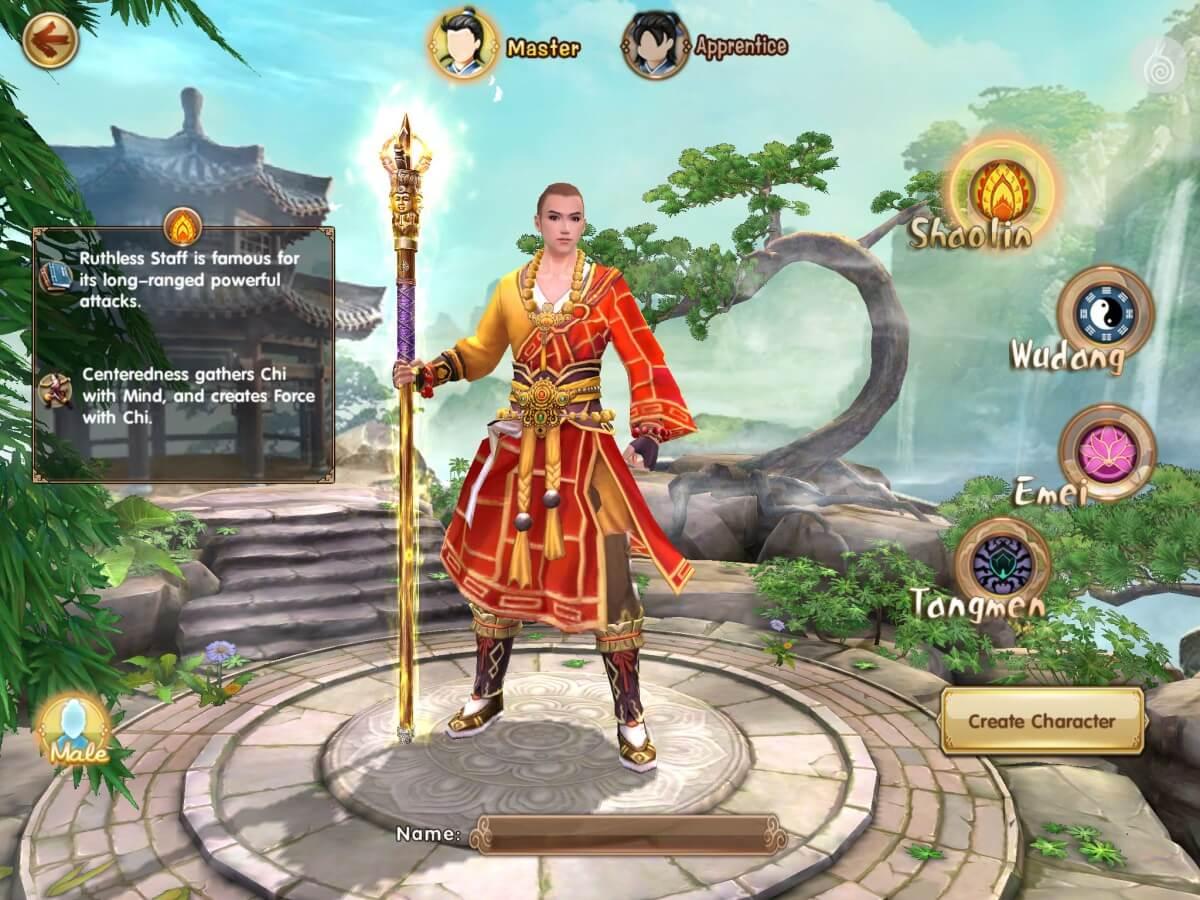 Age of Wushu Dynasty nabízí několik postav a herních stylů