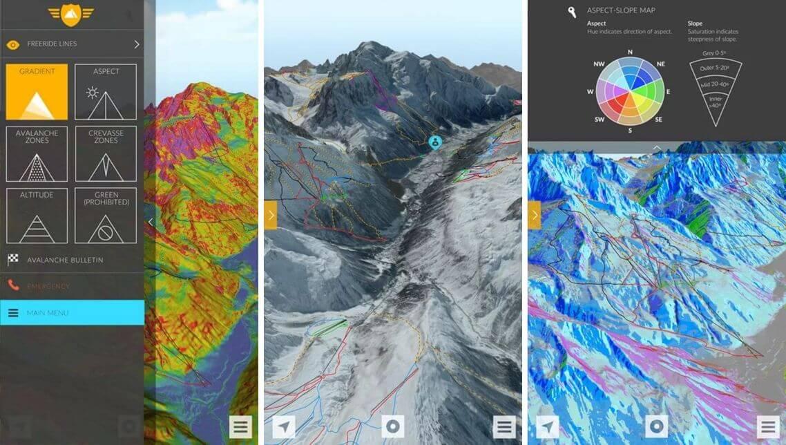 Fatmap Ski mapuje celý terén na svahu a dokáže odhadnout i lavinové nebezpečí