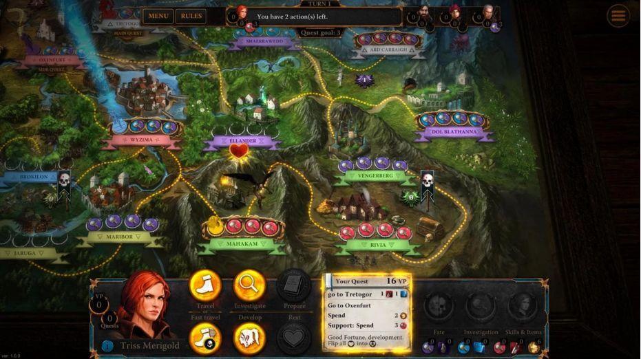 The Witcher Adventure Game patří mezi nové deskové hry na Android