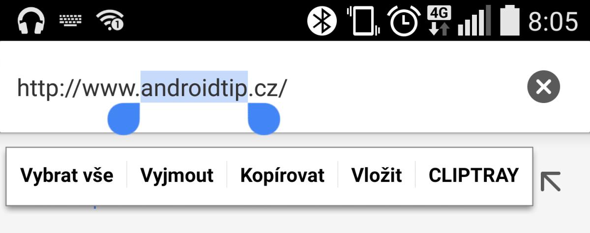 Android schránka (clipboard) pro kopírování a vkládání textů