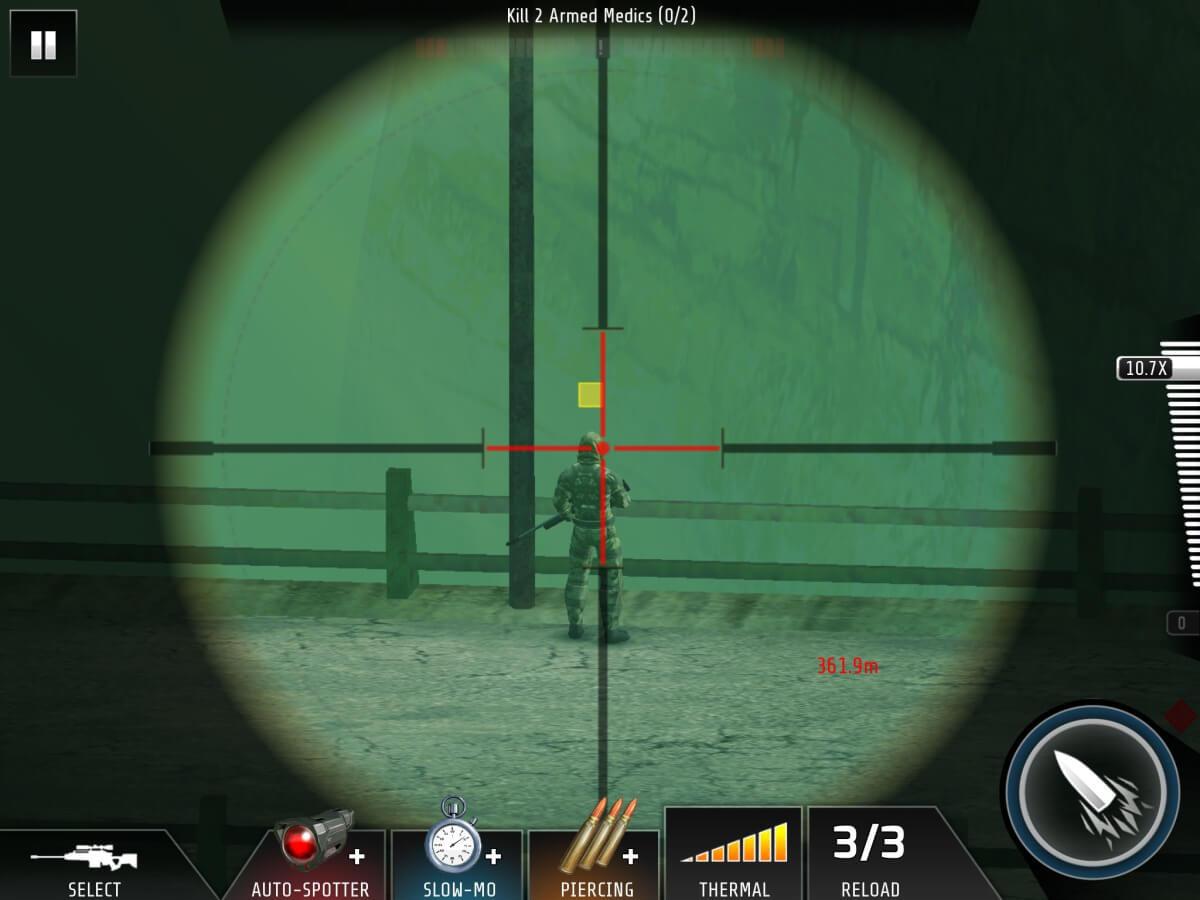 Každé zabití vám Kill Shot Bravo hezky zpomalí, takže vidíte, kudy prolétla kulka