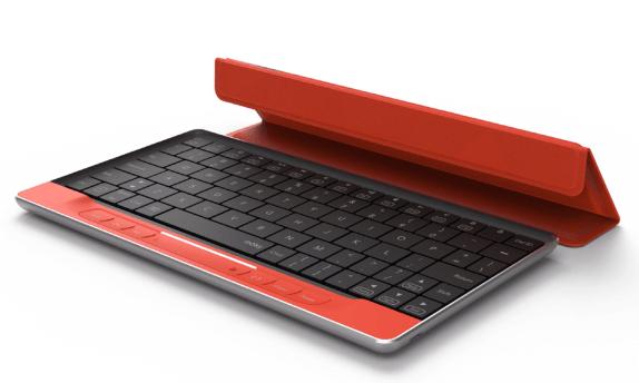 Moky je bezdrátová klávesnice s touchpadem na celé ploše