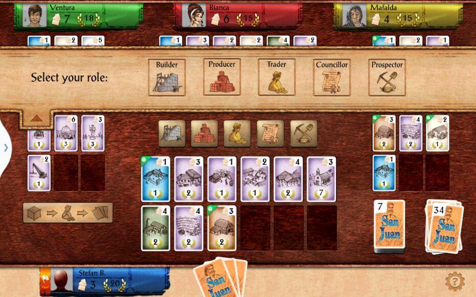 San Juan je karetní hra, v níž stavíte město a pečujete o jeho obyvatele