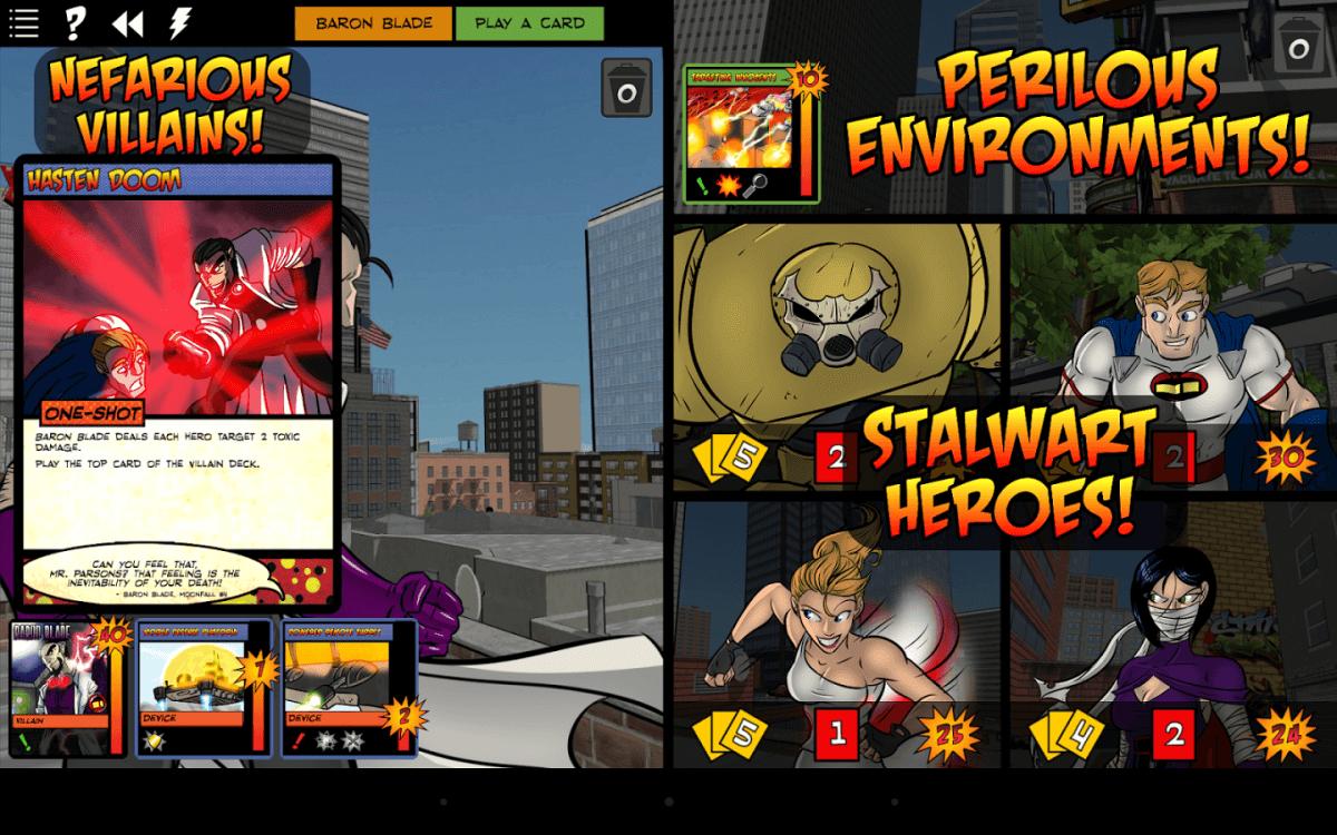 Sentinels of the Multiverse je karetní hra pro Android s komiksovými hrdiny