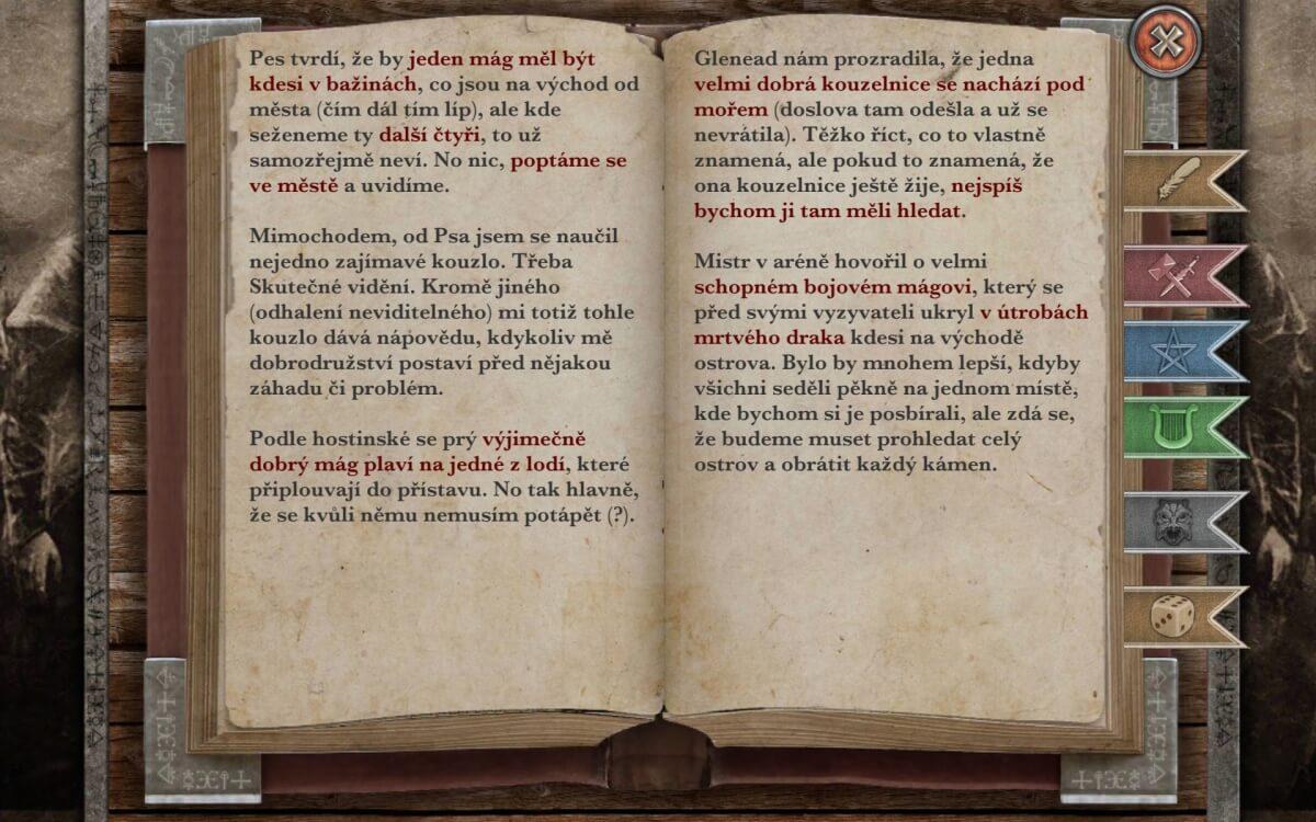 Brány Skeldalu: 7 Mágů přináší rozsáhlý příběh i deník