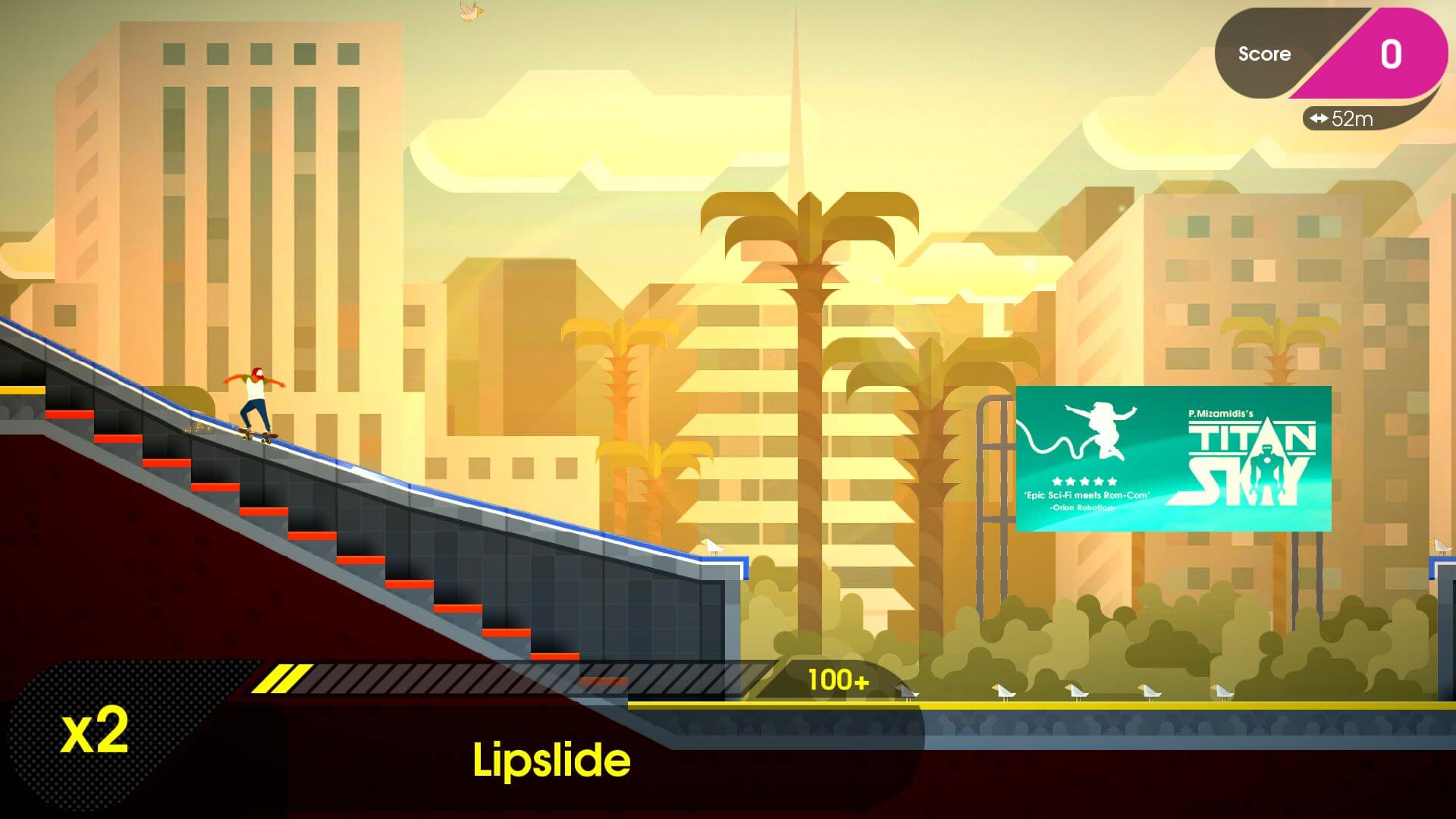 OlliOlli2: Welcome to Olliwood je sportovní hra pro mobily s Androidem