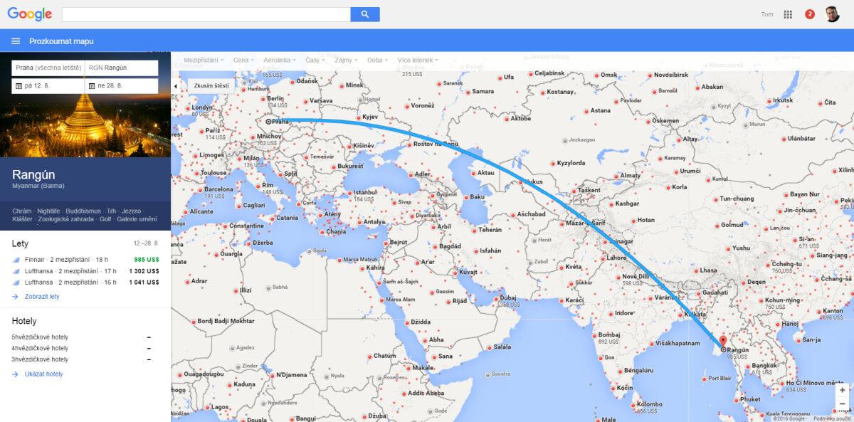 Google Flight je užitečným pomocníkem při hledání levných letenek na internetu
