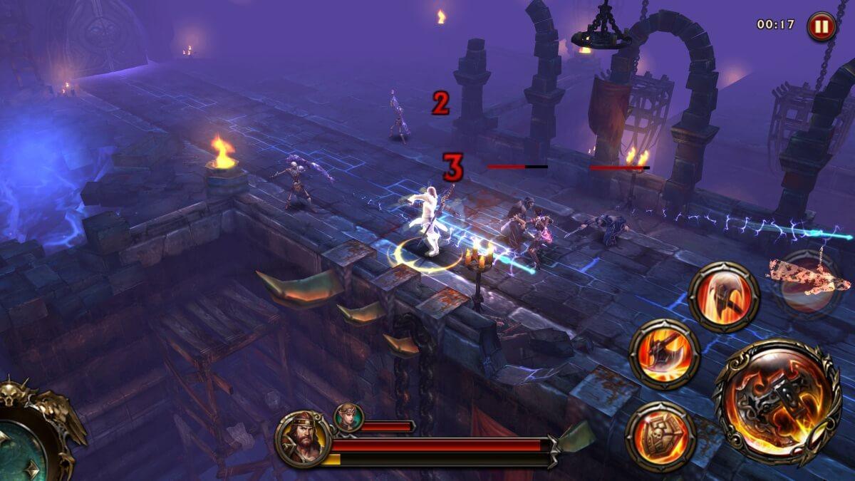 Eternity Warriors 4 nabízí spoustu různých prostředí