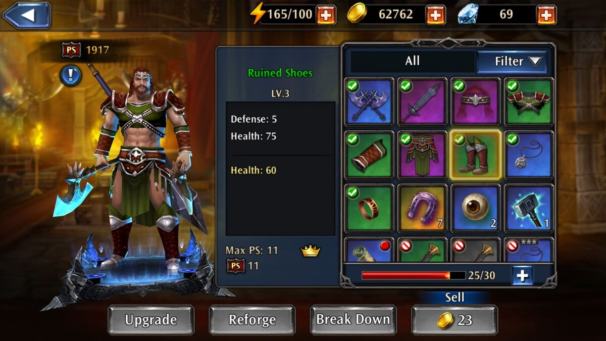 Eternity Warriors 4 - vylepšování postavy nabízí spoustu možností