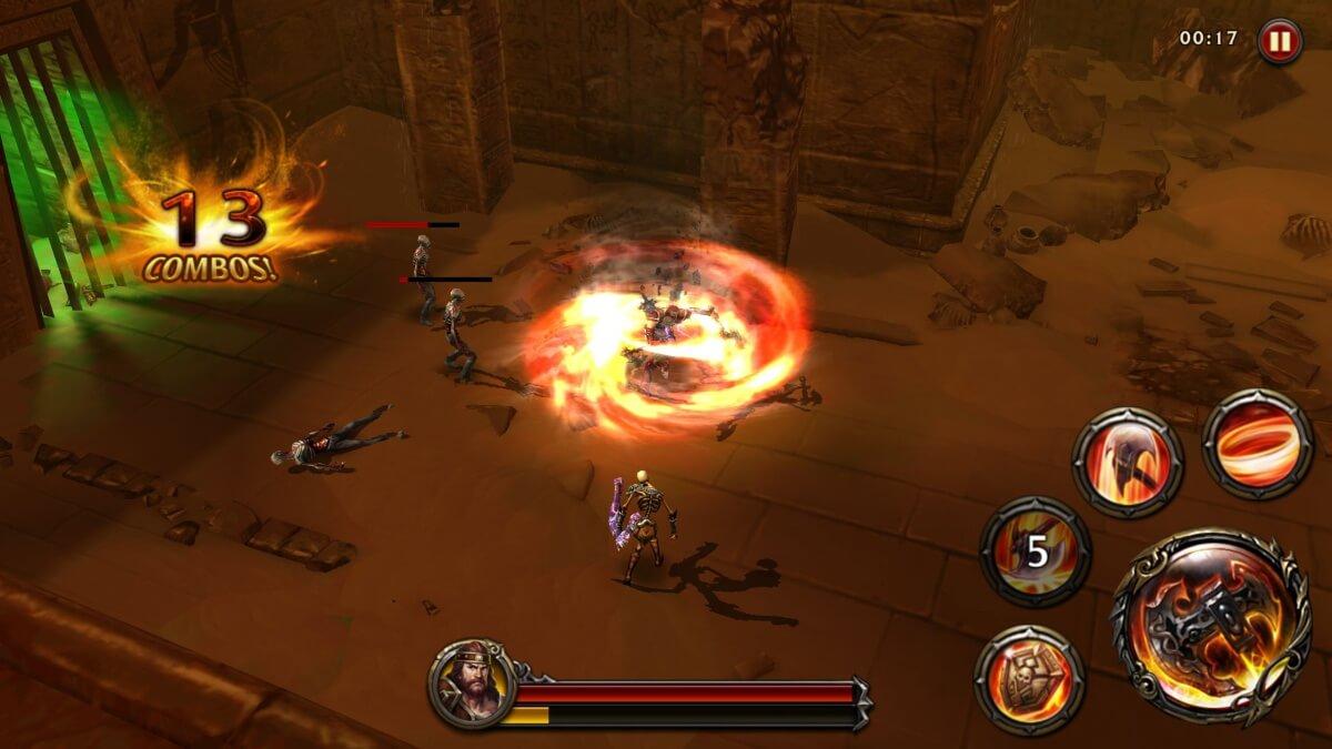 Eternity Warriors 4 - soubojový systém je velmi zábavný