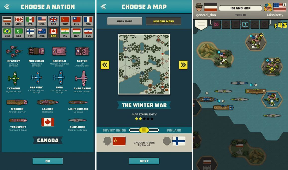 War Cronies - výběr národu, mapy a hrrr do boje...