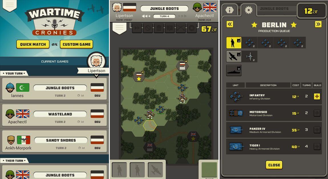 War Cronies - Nákup jednotek a hry ve frontě