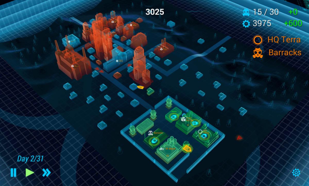 Zombie City Defense - krásná a minimalistická grafika v celé kráse