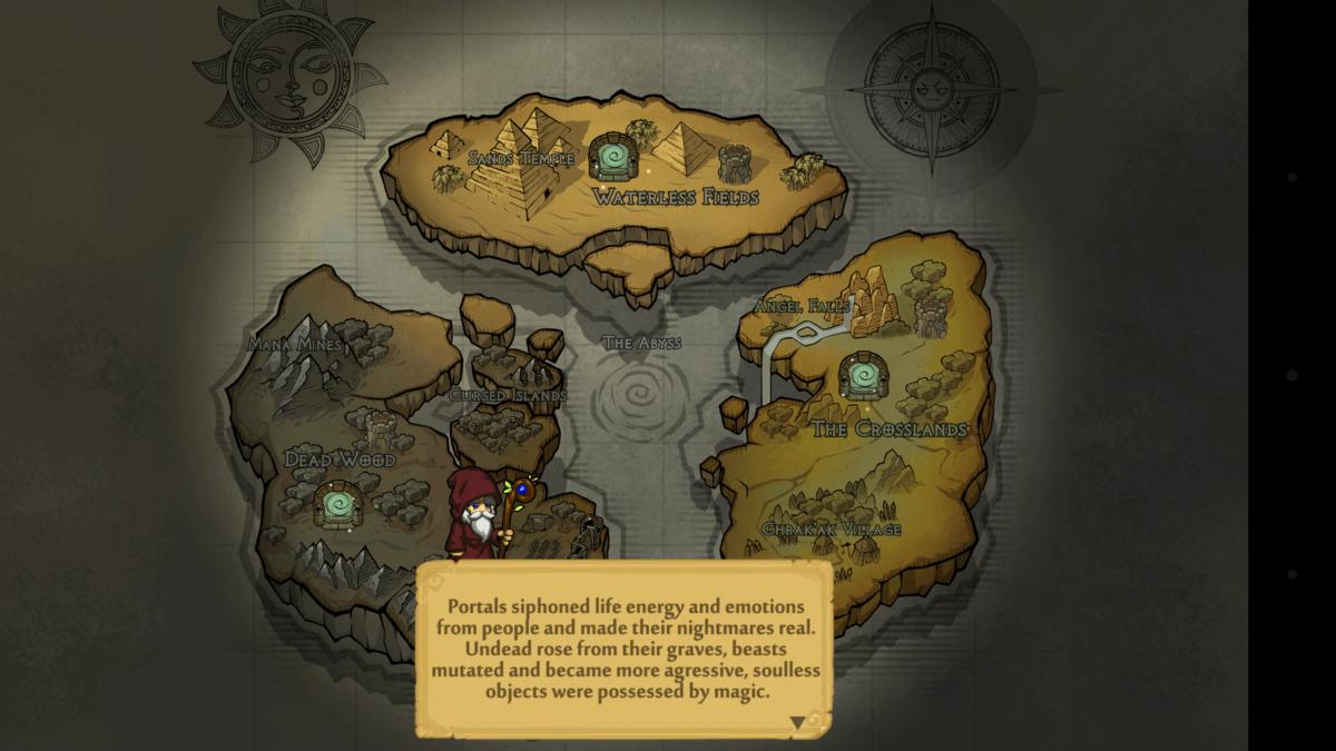 Dungelot Shattered Lands - ostrov, který pukl na tři díly