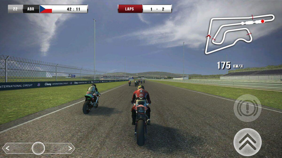 SBK16 - jízdní model je stejný pro všechny motocykly v nabídce