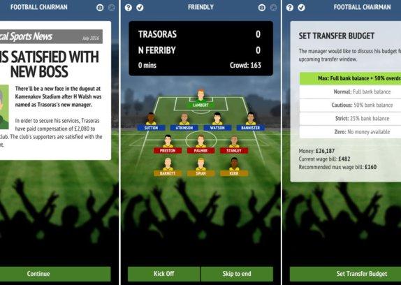 Football Chairman PRO - jednoduchý, ale přesto komplexní fotbalový manažer
