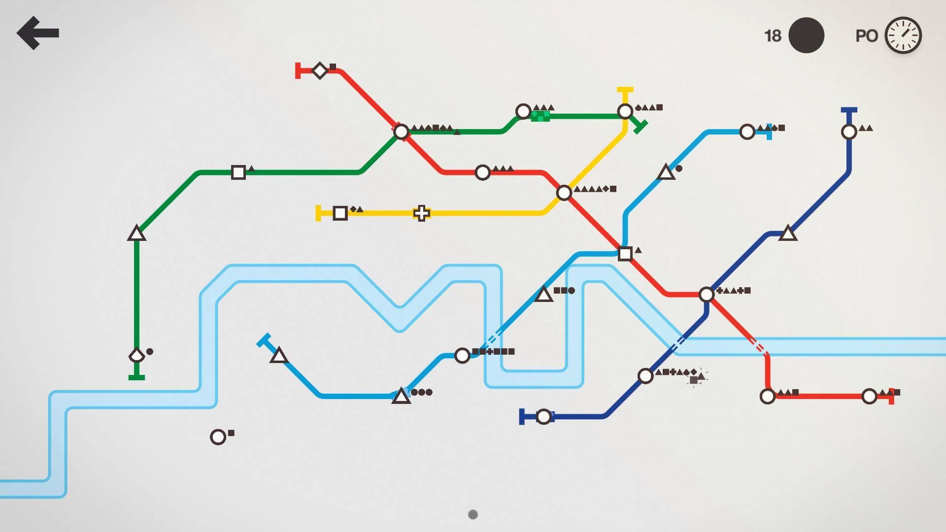 Mini Metro je závratně jednoduchá, ale přitom chytlavá logicko-strategická hra