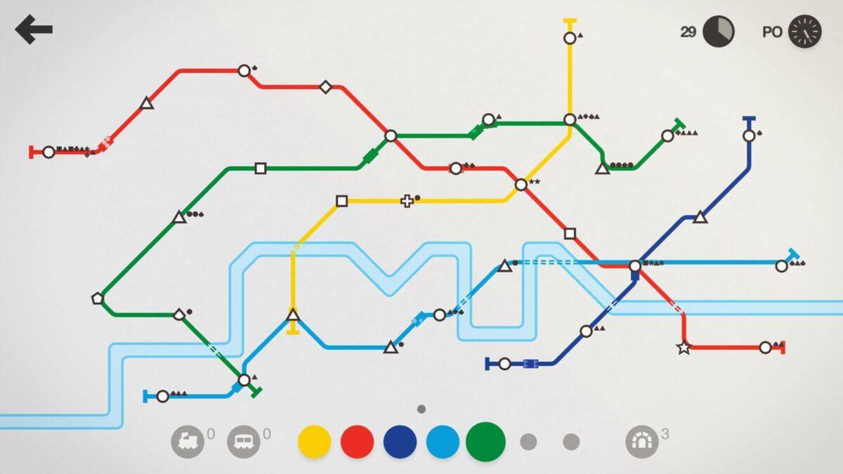 Mini Metro - za pár minut se dráhy takhle rozšíří
