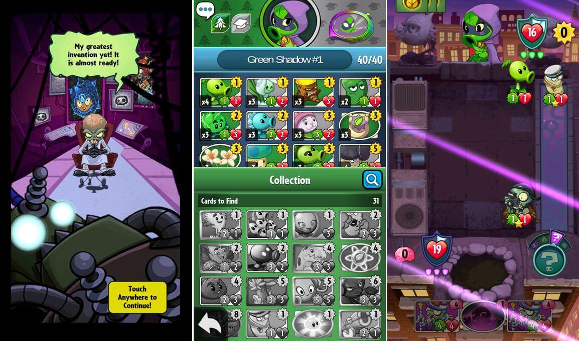 Plants vs. Zombies Heroes - stavba balíčku kartiček