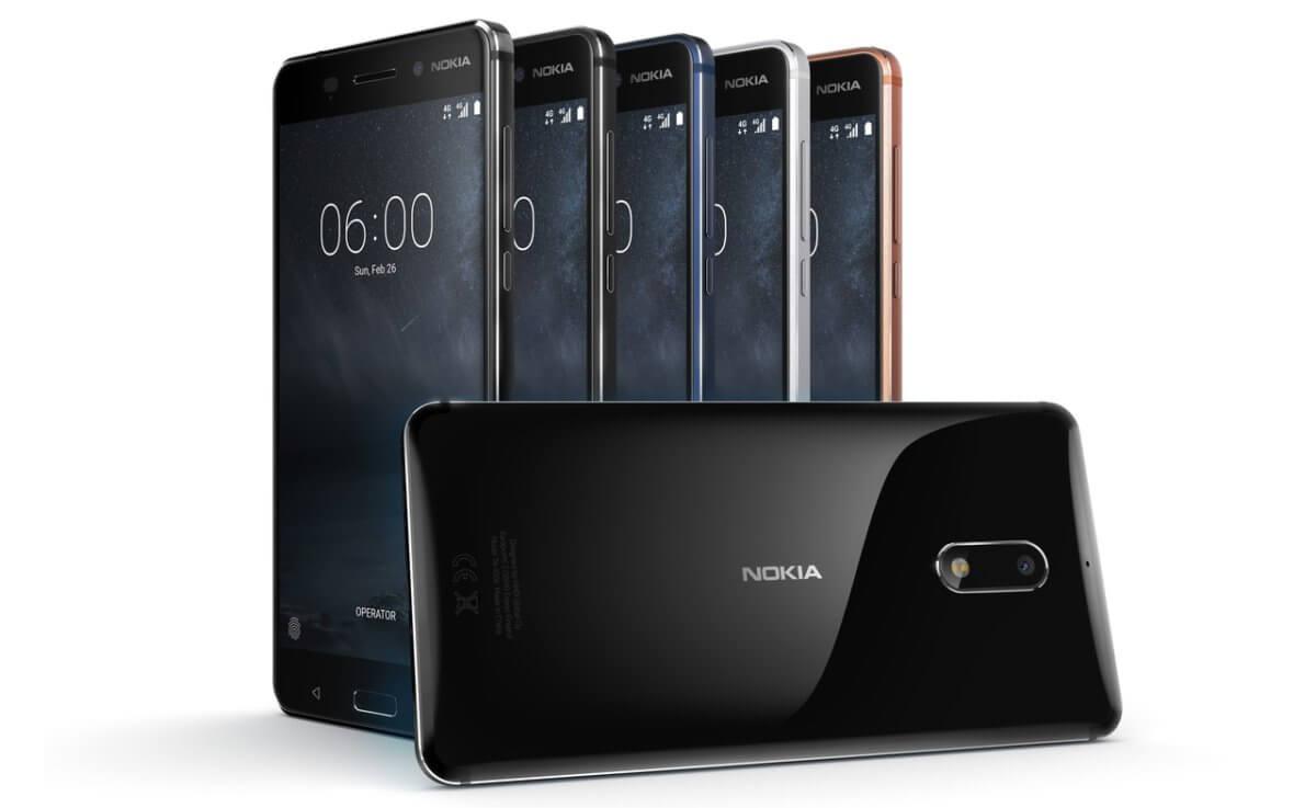 Nokia 6 barvy
