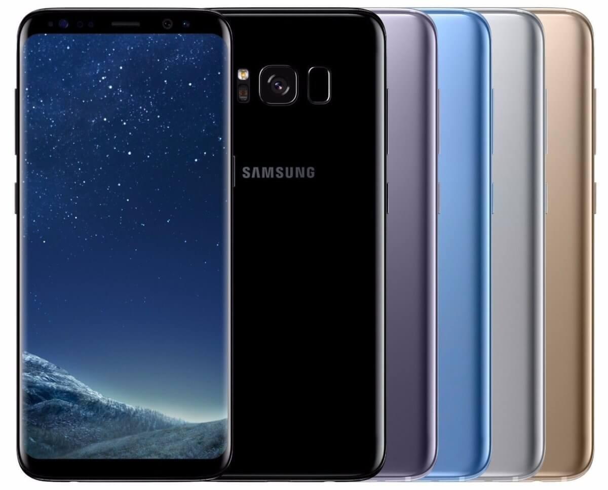 Samsung Galaxy S8+ barvy