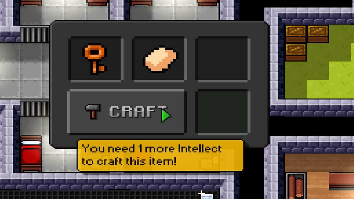 The Escapists - výroba předmětů závisí na vaší inteligenci