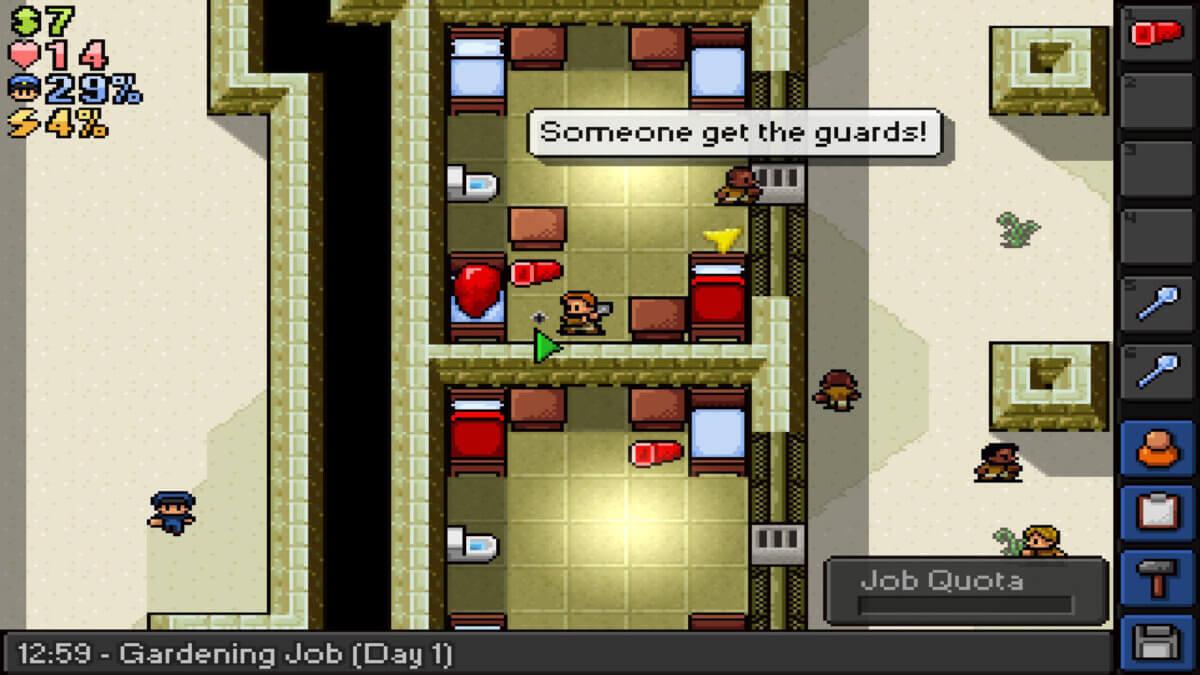 The Escapists - krádež je jednou z možností, jak přijít k jinak nedostupným předmětům