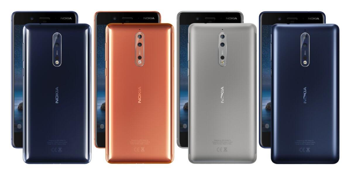 Nokia 8 barvy