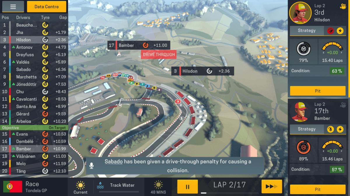 Motorsport Manager 2 - v závodech rozhodují setiny sekundy