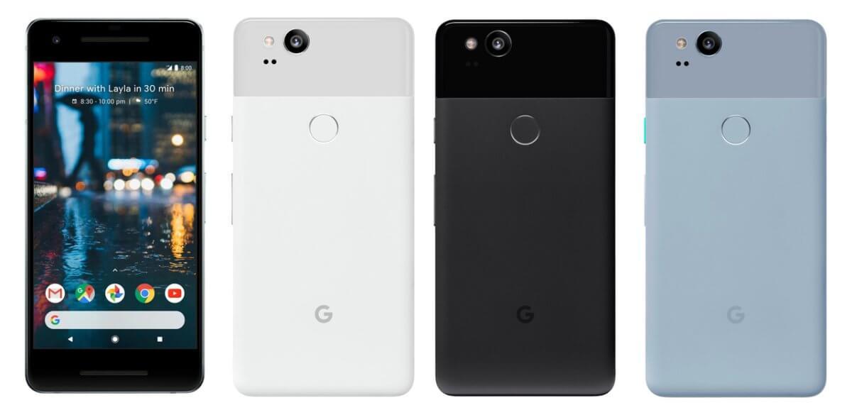 Google Pixel 2 barvy